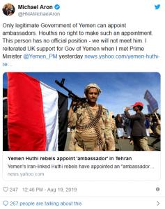 UK's Ambassador to Yemen